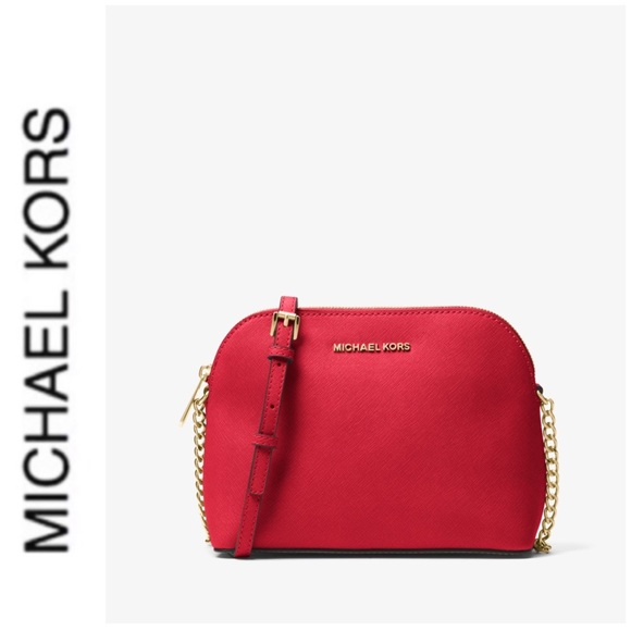 Michael Kors Handbags - NWT authentic MK leather Cindy dome crossbody red